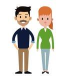 Empleado del trabajador del hombre y de mujer casual Imagen de archivo