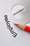 Empleado e innovación Imagen de archivo libre de regalías
