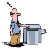 Empleado en la máquina de la copia Imágenes de archivo libres de regalías