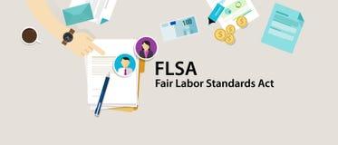 Empleado justo del papel del acto de los estándares de trabajo de FLSA stock de ilustración