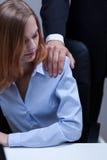 Empleado y su jefe imagen de archivo