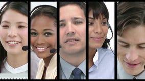 Empleados del centro de llamada en el trabajo metrajes
