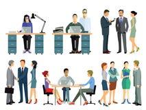 Empleados en oficina ilustración del vector