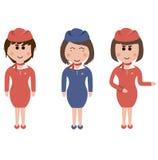Empleo, asistentes de vuelo Imagen de archivo libre de regalías