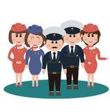 Empleo, asistentes de vuelo Foto de archivo