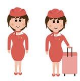 Empleo, asistentes de vuelo Imagen de archivo