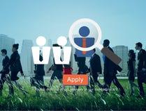 Empleo de alquiler Job Seekers Concept del reclutamiento stock de ilustración