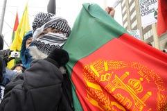 Empleo de Anti-Israel de la reunión de Gaza. Foto de archivo libre de regalías