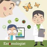 Empleo del entomólogo Imagen de archivo libre de regalías