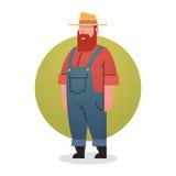 Empleo del profesional del trabajador de Man Icon Agriculture del granjero Fotografía de archivo libre de regalías