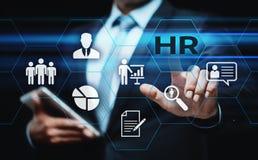 Empleo del reclutamiento de la gestión de la hora de los recursos humanos que busca concepto Imagen de archivo