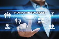 Empleo del reclutamiento de la gestión de la hora de los recursos humanos que busca concepto Fotografía de archivo