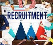 Empleo del reclutamiento que contrata a Job Career Concept Foto de archivo