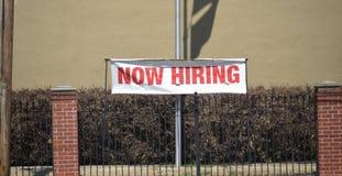 Empleo Job Opportunity Now Hiring fotos de archivo