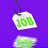 Empleo o empleo de Job On Hook Displays Professional Imagen de archivo