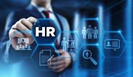 Emploi de recrutement de gestion d'heure de ressources humaines recrutant des cadres le concept photo stock