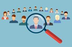 Employé choisi de gestion de ressources humaines illustration stock