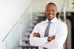 Employé de bureau africain photo libre de droits
