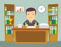 Employé de bureau au travail illustration stock