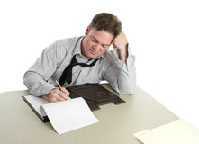 Employé de bureau - concentration Image stock