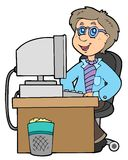 Employé de bureau de dessin animé Photo libre de droits