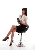 Employé de bureau de femme d'affaires image stock