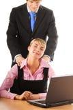 Employé de bureau fatigué Photo stock