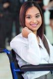 Employé de bureau handicapé Photos stock