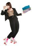 Employé de bureau multitâche Photo libre de droits