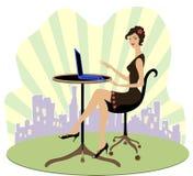 Employé de bureau sexy Image stock