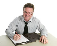 Employé de bureau - utile Photographie stock libre de droits