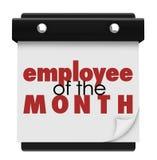Employé de la récompense de exécution supérieure de travailleur de calendrier de mois illustration de vecteur