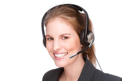 Employé féminin de callcenter image stock