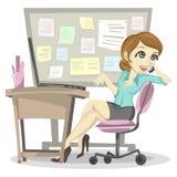 Employé paresseux illustration libre de droits