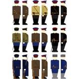 Employés d'uniformes dans le GPU et le NKVD de l'URSS Images stock