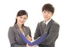 Employés de bureau asiatiques Photos stock