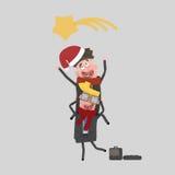 Employés de bureau célébrant Noël 3d Image libre de droits