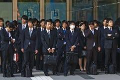 Employés de bureau japonais image stock