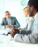 Employés de consultation Images stock