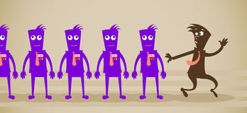 Employés du zombi Photos stock