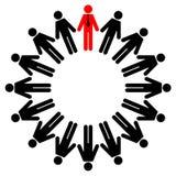 Employés et gestionnaire illustration de vecteur