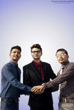 Employés indiens travaillant ensemble Photo stock