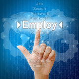 Employ, Business concept. In word for Human resources stock images