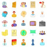 Employ icons set, cartoon style Royalty Free Stock Photos