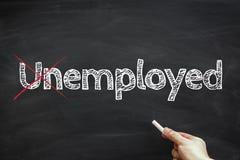 Employed not Unemployed Royalty Free Stock Images