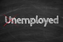 Employed not Unemployed Royalty Free Stock Photos