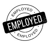 Employed rubber stamp Stock Photos