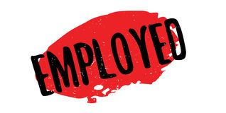 Employed rubber stamp Stock Image