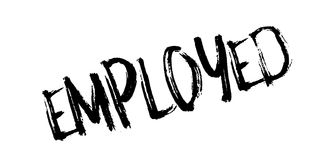 Employed rubber stamp Royalty Free Stock Images