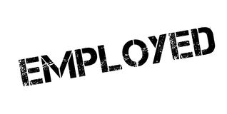 Employed rubber stamp Royalty Free Stock Image
